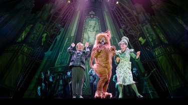 The Lion (John Xintavelonis) gets his moment in the spotlight during The Wizard of Oz.