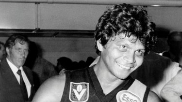Formidable family pedigree: Maurice Rioli in 1982, the last year the Tigers made the grand final – and the year he won the Norm Smith Medal.