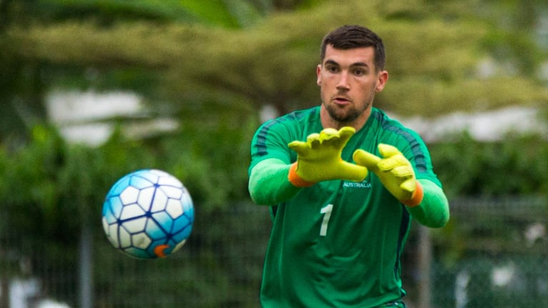 Making adjustments: Mat Ryan will get to play his more natural style when the Socceroos take on Honduras this weekend.