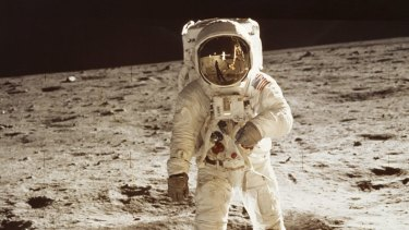 Buzz Aldrin photographed by Neil Armstrong, the first men on the Moon.