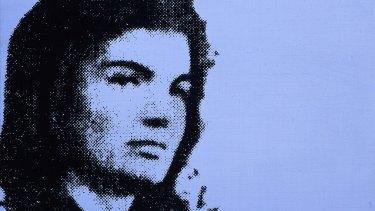 Detail of Andy Warhol's Jackie (1964).