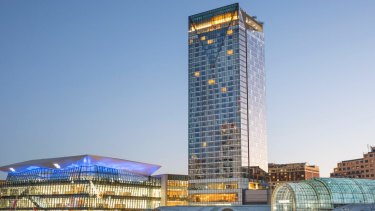 Developed by Lendlease, the Sofitel hotel is part of the $3.4 billion, 20 hectare transformation of Darling Harbour.