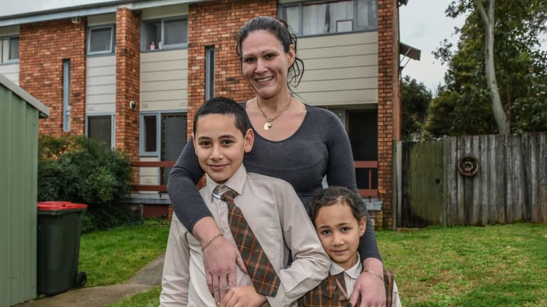 Natasha Mamic, with son Traegan, 10, and daughter Alena, 5, says job opportunities in the Mount Druitt area are hard to come by.