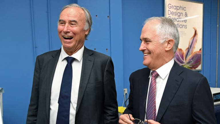 Malcolm Turnbull and John Alexander in happier times in April this year.