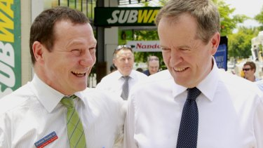 Labor MP Graham Perrett (pictured with leader Bill Shorten) has spoken to Liberal and Greens MPs about prospect of a cross-party same-sex marriage bill but appears to have cooled on the idea.