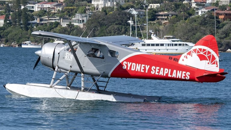 Sydney Seaplanes' single-engine DHC-2 Beaver Seaplane.