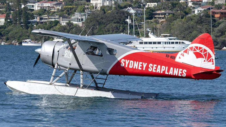 Sydney Seaplanes' single-engine DHC-2 Beaver Seaplane.
