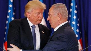 US President Donald Trump with Israeli Prime Minister Benjamin Netanyahu in May.