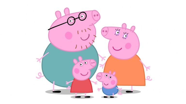Peppa Pig features a female villain, in the shape of a duck.
