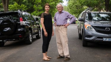 Resident Luisa Capezio and historian Alan Foskett say urban in-filling is clogging the roads of Campbell.
