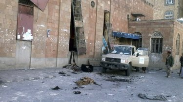 The culture centre that was the target of a suicide bomber in central Yemen.