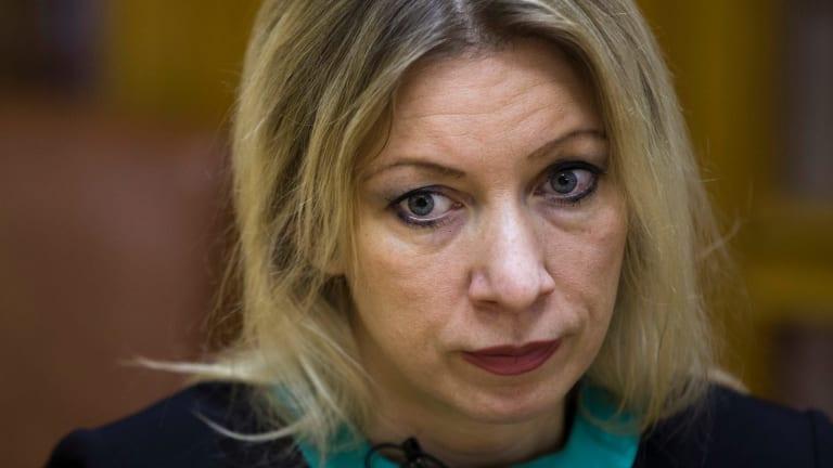 Russian Foreign Ministry spokeswoman Maria Zakharova.