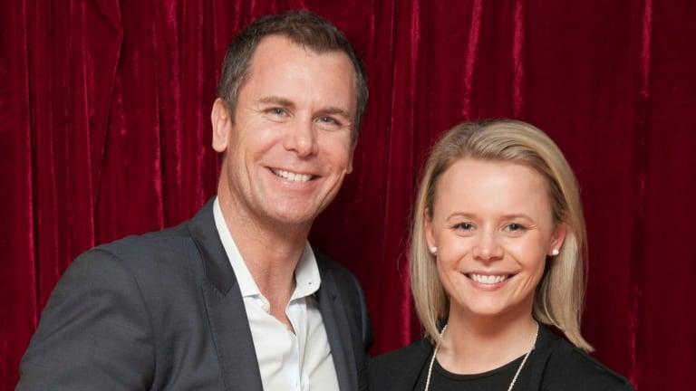 Former Kangaroo star Wayne Carey and Stephanie Edwards in happier times.