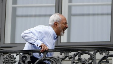 Iranian Foreign Minister Javad Zarif in Vienna on Monday.