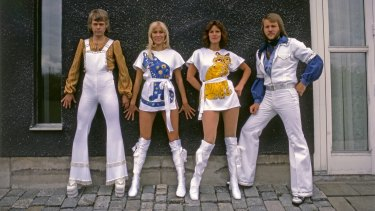 Sweden's Abba in their glory days ... Björn Ulvaeus, Agnetha Fältskog, Anni-Frid Lyngstand and Benny Andersson have come together twice in 2016.