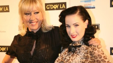 Burlesque star Dita Von Teese (right) has been a fan of Wheels and Dollbaby for more than a decade.