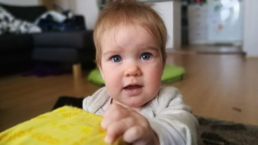 Babies move pretty fast, but the P9's autofocus can keep up.