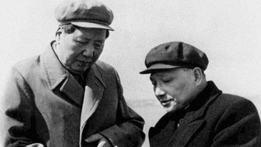 Chairman Mao Tse-tung (left) and Deng Xiaoping: Capitalist fever, like communism before it, stripped away the deep rich spiritual traditions of Buddhism and Taoism.