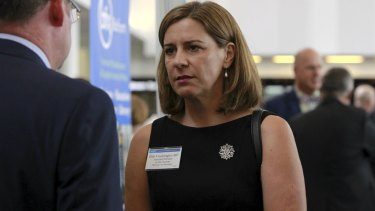 Assistant Minister to the Premier Deb Frecklington at the LNP Campaign Lunch at the Brisbane Convention Centre.