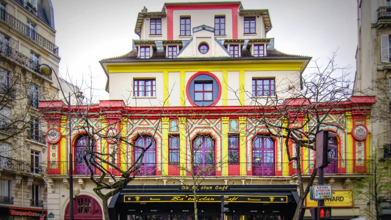 The Bataclan concert hall in central Paris, one of the seven sites targeted by terrorists .