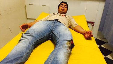 Zijah Haider, 17, was one of two youths beaten by Nauruan men in an attack.