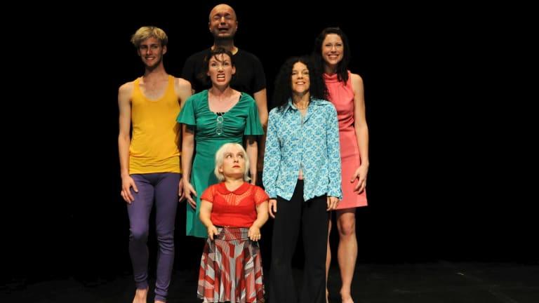 Benjamin Hancock, Nalina Wait, James Berlyn, Kiruna Stamell, Narelle Benjamin and Rachelle Hickson in <i>Variant</i>.