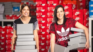 Stylerunner twins Julie and Sali Stevanja, 34, shy away from discounting.