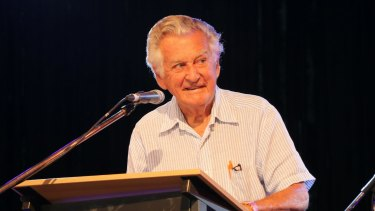 Former Prime Minister Bob Hawke told an audience at Woodford Australia should take nuclear waste.