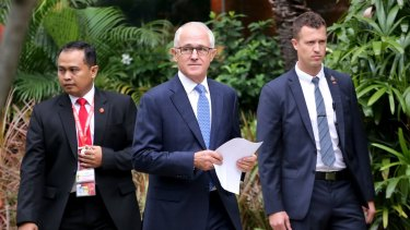 Prime Minister Malcolm Turnbull in Jakarta on Tuesday.