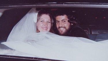 Rhondda and John on their wedding day in 1974.