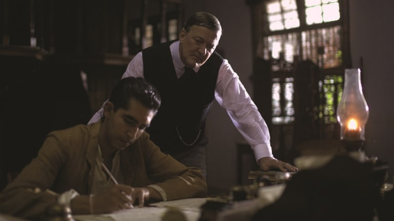 Dev Patel and Stephen Fry in <i>The Man Who Knew Infinity</i>.