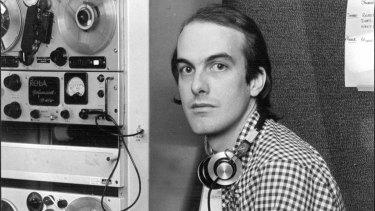 Stuart Matchett at 2JJ's Kings Cross office, May 1978.