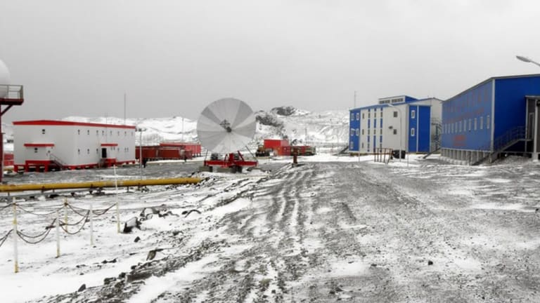 China's Great Wall Station on King George Island in the Antarctic.