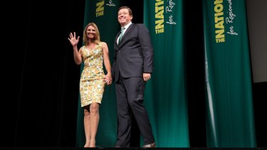 NSW Nationals leader Troy Grant with his wife Toni.