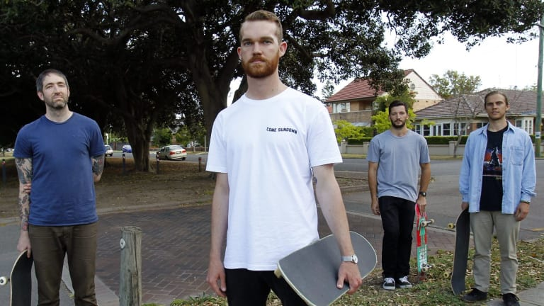 James Turvey, Patrick Burgess, Justin Lanz and Mark Wojcik intervened in an alleged attack on two Muslim women.