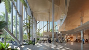 Internal design image of the proposed development for the existing Suncorp Plaza building.