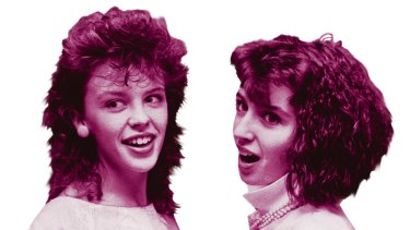 Kylie Minogue and sister Dannii Minogue on Young Talent Time.