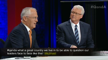 Battling a bad cold, the PM faced a blizzard of hostile questions from audience members in Brisbane.