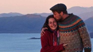 Julian Ferguson, an early client of a robo-advice service, with his girlfriend Celine.