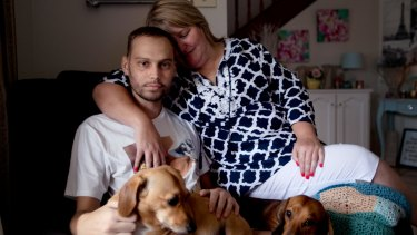 Rhys Pagalday, who had his Centrelink payments cut, with his mum Caroline.