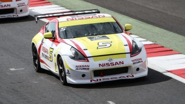 Matt Simmons swapped his Australia Post van for a racing Nissan.