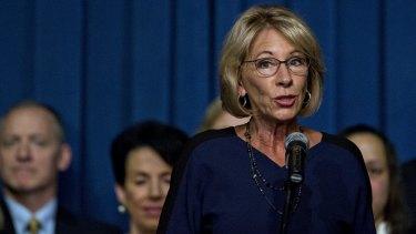 Betsy DeVos, the US secretary of education.