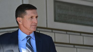 Former Trump national security adviser Michael Flynn leaves federal court in Washington
