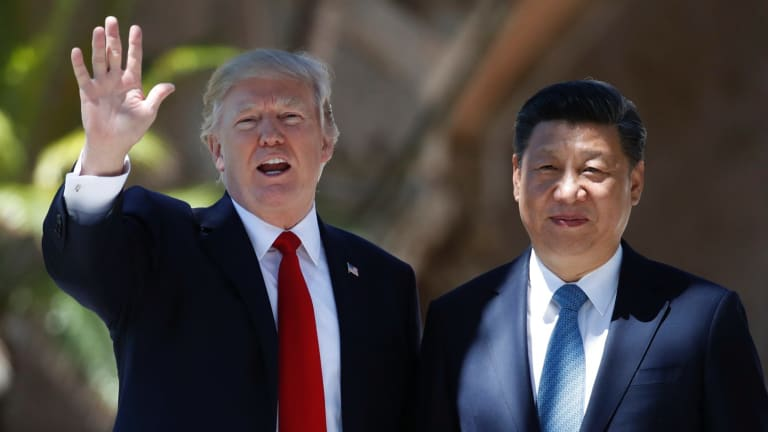 President Donald Trump and Chinese President Xi Jinping at Mar-a-Lago earlier this month.