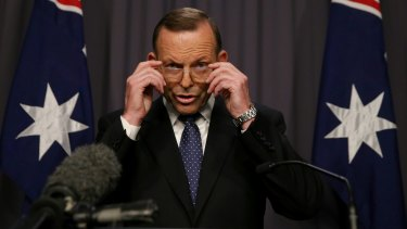 "Prime Minister Tony Abbott: ""This is a matter that should rightly be put to the Australian people."""