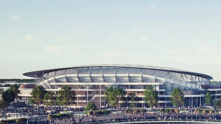 An artist's impression of what the new Allianz Stadium will look like.