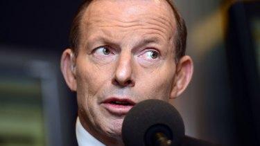 In trouble: Tony Abbott.