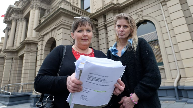 Anti-mosque campaigners Julie Hoskin and Councillor Elise Chapman.