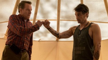Battlers: Bryan Cranston and James Franco in Why Him?