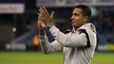Homecoming: Tim Cahill was given a warm welcome at The Den.